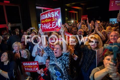 Wieczór wyborczy Pawła Adamowicza w Gdańsku