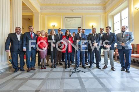 Briefing prasowy po posiedzeniu sztabu kryzysowego w Warszawie