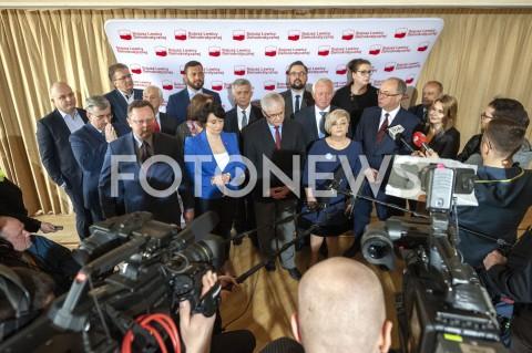 AGENCJA FOTONEWS - 31.03.2019 WARSZAWARADA KRAJOWA KONWENCJA SLDN/Z WLODZIMIERZ CZARZASTY WLODZIMIERZ CIMOSZEWICZ MAREK BELKA ANNA MARIA ZUKOWSKA KATARZYNA KADZIELA FOT GRZEGORZ KRZYZEWSKI / FOTONEWS