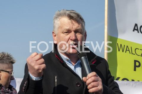 AGENCJA FOTONEWS - 03.04.2019 WARSZAWAPROTEST ROLNIKOW AGROUNIIN/Z KRZYSZTOF TOLWINSKIFOT GRZEGORZ KRZYZEWSKI / FOTONEWS