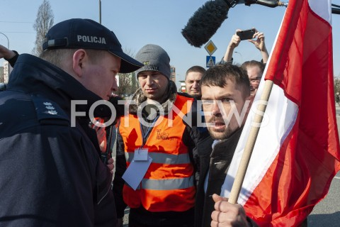 AGENCJA FOTONEWS - 03.04.2019 WARSZAWAPROTEST ROLNIKOW AGROUNIIN/Z MICHAL KOLODZIEJCZAK POLICJA POLICJANTFOT GRZEGORZ KRZYZEWSKI / FOTONEWS