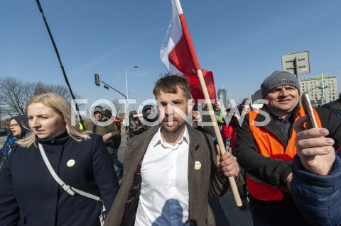 AGENCJA FOTONEWS - 03.04.2019 WARSZAWAPROTEST ROLNIKOW AGROUNIIN/Z MICHAL KOLODZIEJCZAKFOT GRZEGORZ KRZYZEWSKI / FOTONEWS