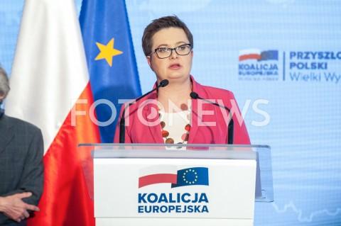 AGENCJA FOTONEWS - 04.04.2019 WARSZAWAPREZENTACJA HASLA I ZALOZEN PROGRAMOWYCH KOALICJI EUROPEJSKIEJ N/Z KATARZYNA LUBNAUERFOT GRZEGORZ KRZYZEWSKI/FOTONEWS
