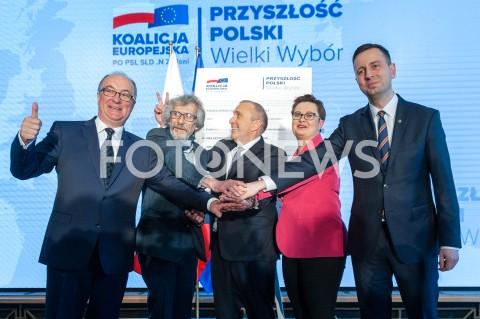Prezentacja hasła i założeń programowych Koalicji Europejskiej w Warszawie