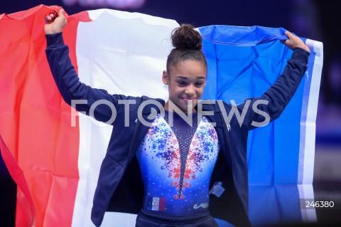 AGENCJA FOTONEWS - 12.04.2019 SZCZECIN8. MISTRZOSTWA EUROPY W GIMNASTYCE SPORTOWEJ KOBIET I MEZCZYZNDZIEN 3 - FINAL WIELOBOJU KOBIET8th European Championships in Artistic GymnasticsDay 3 - Women's All Around FinalN/Z MELANIE DE JESUS DOS SANTOS (FRA) RADOSC ZWYCIESTWO WINNINGFOT MATEUSZ SLODKOWSKI / FOTONEWS