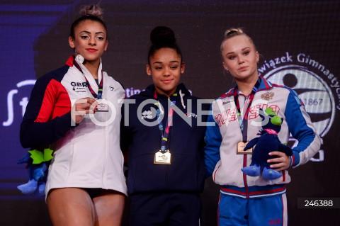 AGENCJA FOTONEWS - 12.04.2019 SZCZECIN8. MISTRZOSTWA EUROPY W GIMNASTYCE SPORTOWEJ KOBIET I MEZCZYZNDZIEN 3 - FINAL WIELOBOJU KOBIET8th European Championships in Artistic GymnasticsDay 3 - Women's All Around FinalN/Z ELISSA DOWNIE (GBR) MELANIE DE JESUS DOS SANTOS (FRA) ANGELINA MELNIKOVA (RUS)FOT MATEUSZ SLODKOWSKI / FOTONEWS