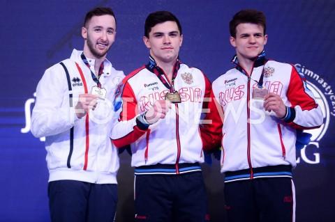 AGENCJA FOTONEWS - 13.04.2019 SZCZECIN8. MISTRZOSTWA EUROPY W GIMNASTYCE SPORTOWEJ KOBIET I MEZCZYZNDZIEN 4 - FINALY NA PRZYRZADACH8th European Championships in Artistic GymnasticsDay 4 - Apparatus FinalsN/Z ARTEM DOLGOPYAT (ISR) ARTUR DALALOYAN (RUS) DMITRII LANKIN (RUS)FOT MATEUSZ SLODKOWSKI / FOTONEWS