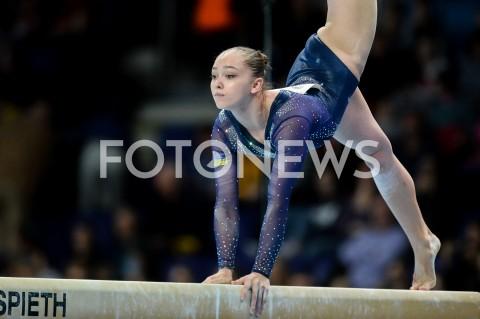 AGENCJA FOTONEWS - 14.04.2019 SZCZECIN8. MISTRZOSTWA EUROPY W GIMNASTYCE SPORTOWEJ KOBIET I MEZCZYZNDZIEN 5 - FINALY NA PRZYRZADACH8th European Championships in Artistic GymnasticsDay 5 - Apparatus FinalsN/Z ANASTASIIA BACHYNSKA (UKR)FOT MATEUSZ SLODKOWSKI / FOTONEWS