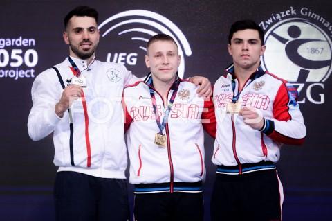 AGENCJA FOTONEWS - 14.04.2019 SZCZECIN8. MISTRZOSTWA EUROPY W GIMNASTYCE SPORTOWEJ KOBIET I MEZCZYZNDZIEN 5 - FINALY NA PRZYRZADACH8th European Championships in Artistic GymnasticsDay 5 - Apparatus FinalsN/Z ANDREY MEDVEDEV (ISR) DENIS ABLIAZIN (RUS) ARTUR DALALOYAN (RUS)FOT MATEUSZ SLODKOWSKI / FOTONEWS