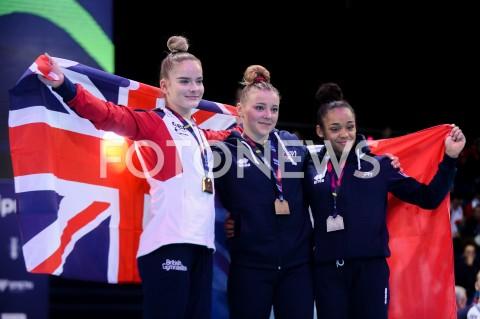 AGENCJA FOTONEWS - 14.04.2019 SZCZECIN8. MISTRZOSTWA EUROPY W GIMNASTYCE SPORTOWEJ KOBIET I MEZCZYZNDZIEN 5 - FINALY NA PRZYRZADACH8th European Championships in Artistic GymnasticsDay 5 - Apparatus FinalsN/Z ALICE KINSELA (GBR) LORETTE CHARPY (FRA) MELANIE DE JESUS DOS SANTOS (FRA)FOT MATEUSZ SLODKOWSKI / FOTONEWS