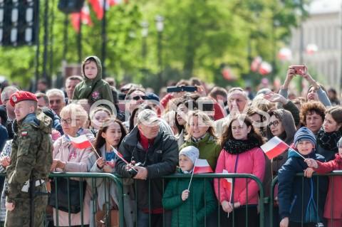 AGENCJA FOTONEWS - 03.05.2019 WARSZAWA PLAC ZAMKOWYOBCHODY SWIETA NARODOWEGO 3 MAJA N/Z MIESZKANCY WARSZAWYFOT MAREK KONRAD / FOTONEWS