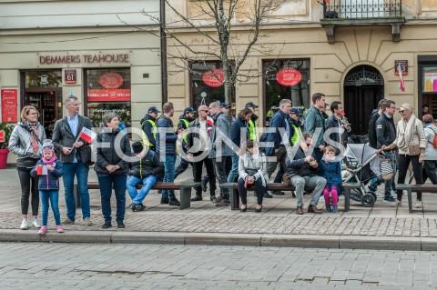 AGENCJA FOTONEWS - 03.05.2019 WARSZAWA OBCHODY SWIETA NARODOWEGO 3 MAJA N/Z WARSZAWIACY NA STARYM MIESCIEFOT MAREK KONRAD / FOTONEWS