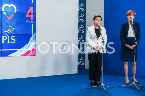 Konferencja prasowa w siedzibie Prawa i Sprawiedliwości w Warszawie