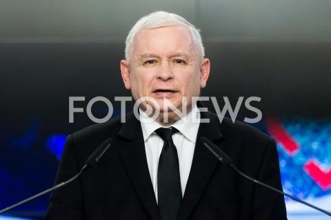 Oświadczenie dla mediów prezesa PiS Jarosława Kaczyńskiego w Warszawie