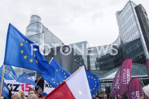 AGENCJA FOTONEWS - 23.05.2019 WARSZAWADEBATA EUROPEJSKA W TVPN/Z BUDYNEK TVP FLAGI UNII EUROPEJSKIEJFOT MAREK KONRAD / FOTONEWS