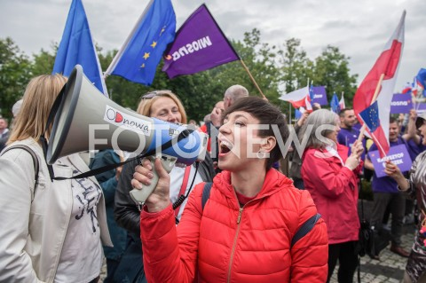 AGENCJA FOTONEWS - 23.05.2019 WARSZAWADEBATA EUROPEJSKA W TVPN/Z UCZESTNICY MEGAFON ODNOWAFOT MAREK KONRAD / FOTONEWS