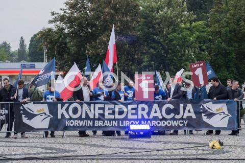 AGENCJA FOTONEWS - 23.05.2019 WARSZAWADEBATA EUROPEJSKA W TVPN/Z OSOBY WSPIERAJACE KONFEDERACJAFOT MAREK KONRAD / FOTONEWS