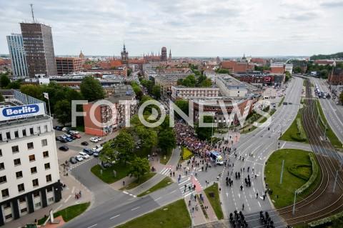AGENCJA FOTONEWS - 25.05.2019 GDANSK5. TROJMIEJSKI MARSZ ROWNOSCI W GDANSKUN/Z UCZESTNICY MARSZU PANORAMA GDANSKFOT MATEUSZ SLODKOWSKI / FOTONEWS