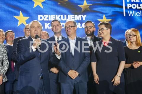 AGENCJA FOTONEWS - 26.05.2019 WARSZAWAWIECZOR WYBORCZY KOALICJI EUROPEJSKIEJN/Z GRZEGORZ SCHETYNA WLADYSLAW KOSINIAK KAMYSZ WLODZIMIERZ CZARZASTY KATARZYNA LUBNAUER MALGORZATA TRACZFOT GRZEGORZ KRZYZEWSKI / FOTONEWS