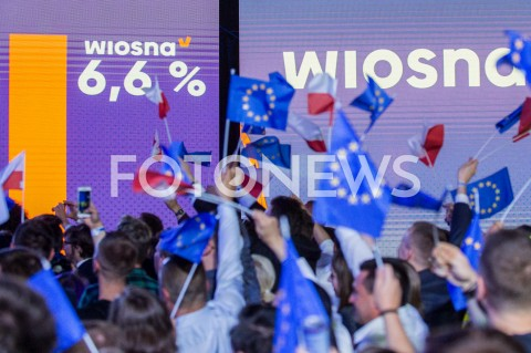 AGENCJA FOTONEWS - 26.05.2019 WARSZAWAWIECZOR WYBORCZY WIOSNYN/Z WYNIK SONDAZFOT MAREK KONRAD / FOTONEWS