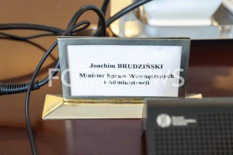 AGENCJA FOTONEWS - 28.05.2019 WARSZAWAPOSIEDZENIE RADY MINISTROWPOSIEDZENIE RZADUN/Z JOACHIM BRUDZINSKI TABLICZKAFOT GRZEGORZ KRZYZEWSKI / FOTONEWS