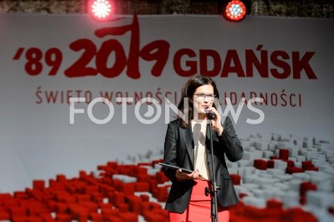 AGENCJA FOTONEWS - 04.06.2019 GDANSKSWIETO WOLNOSCI I SOLIDARNOSCI W GDANSKUN/Z ALEKSANDRA DULKIEWICZFOT MATEUSZ SLODKOWSKI / FOTONEWS