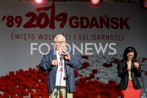 AGENCJA FOTONEWS - 04.06.2019 GDANSKSWIETO WOLNOSCI I SOLIDARNOSCI W GDANSKUN/Z LECH WALESAFOT MATEUSZ SLODKOWSKI / FOTONEWS