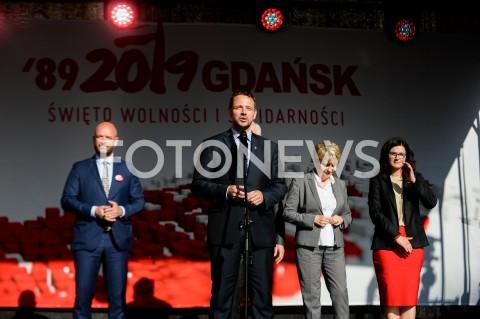AGENCJA FOTONEWS - 04.06.2019 GDANSKSWIETO WOLNOSCI I SOLIDARNOSCI W GDANSKUN/Z RAFAL TRZASKOWSKIFOT MATEUSZ SLODKOWSKI / FOTONEWS