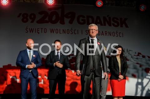 AGENCJA FOTONEWS - 04.06.2019 GDANSKSWIETO WOLNOSCI I SOLIDARNOSCI W GDANSKUN/Z JACEK JASKOWIAKFOT MATEUSZ SLODKOWSKI / FOTONEWS