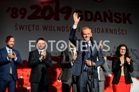 AGENCJA FOTONEWS - 04.06.2019 GDANSKSWIETO WOLNOSCI I SOLIDARNOSCI W GDANSKUN/Z DONALD TUSKFOT MATEUSZ SLODKOWSKI / FOTONEWS