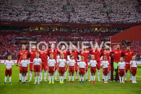 AGENCJA FOTONEWS - 10.06.2019 - WARSZAWAPILKA NOZNA - KWALIFIKACJE UEFA EURO 2020FOOTBALL UEFA EURO 2020 QUALIFIERSMECZ POLSKA (POLAND) - IZRAEL (ISRAEL)N/Z REPREZENTACJA POLSKI PODCZAS HYMNUFOT MATEUSZ SLODKOWSKI / FOTONEWS