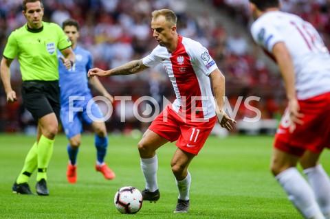 AGENCJA FOTONEWS - 10.06.2019 - WARSZAWAPILKA NOZNA - KWALIFIKACJE UEFA EURO 2020FOOTBALL UEFA EURO 2020 QUALIFIERSMECZ POLSKA (POLAND) - IZRAEL (ISRAEL)N/Z KAMIL GROSICKI SYLWETKAFOT MATEUSZ SLODKOWSKI / FOTONEWS