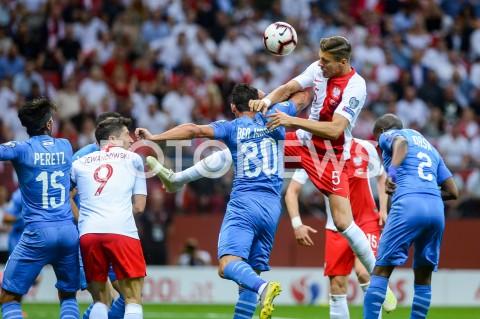 AGENCJA FOTONEWS - 10.06.2019 - WARSZAWAPILKA NOZNA - KWALIFIKACJE UEFA EURO 2020FOOTBALL UEFA EURO 2020 QUALIFIERSMECZ POLSKA (POLAND) - IZRAEL (ISRAEL)N/Z JAN BEDNAREK ROBERT LEWANDOWSKIFOT MATEUSZ SLODKOWSKI / FOTONEWS