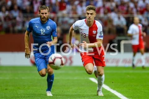 AGENCJA FOTONEWS - 10.06.2019 - WARSZAWAPILKA NOZNA - KWALIFIKACJE UEFA EURO 2020FOOTBALL UEFA EURO 2020 QUALIFIERSMECZ POLSKA (POLAND) - IZRAEL (ISRAEL)N/Z SHERAN YEINI KRZYSZTOF PIATEKFOT MATEUSZ SLODKOWSKI / FOTONEWS