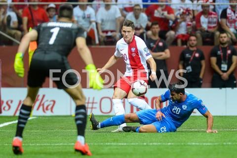 AGENCJA FOTONEWS - 10.06.2019 - WARSZAWAPILKA NOZNA - KWALIFIKACJE UEFA EURO 2020FOOTBALL UEFA EURO 2020 QUALIFIERSMECZ POLSKA (POLAND) - IZRAEL (ISRAEL)N/Z PIOTR ZIELINSKI OMRI BEN HARUSHFOT MATEUSZ SLODKOWSKI / FOTONEWS