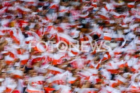 AGENCJA FOTONEWS - 10.06.2019 - WARSZAWAPILKA NOZNA - KWALIFIKACJE UEFA EURO 2020FOOTBALL UEFA EURO 2020 QUALIFIERSMECZ POLSKA (POLAND) - IZRAEL (ISRAEL)N/Z FLAGI KIBICE OPRAWA FLAGA POLSKIFOT MATEUSZ SLODKOWSKI / FOTONEWS