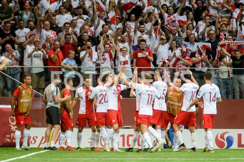 AGENCJA FOTONEWS - 10.06.2019 - WARSZAWAPILKA NOZNA - KWALIFIKACJE UEFA EURO 2020FOOTBALL UEFA EURO 2020 QUALIFIERSMECZ POLSKA (POLAND) - IZRAEL (ISRAEL)N/Z KRZYSZTOF PIATEK RADOSC BRAMKA GOL NA 1:0FOT MATEUSZ SLODKOWSKI / FOTONEWS