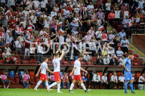 AGENCJA FOTONEWS - 10.06.2019 - WARSZAWAPILKA NOZNA - KWALIFIKACJE UEFA EURO 2020FOOTBALL UEFA EURO 2020 QUALIFIERSMECZ POLSKA (POLAND) - IZRAEL (ISRAEL)N/Z KRZYSZTOF PIATEK RADOSC BRAMKA GOL NA 1:0 KIBICE PODZIEKOWANIEFOT MATEUSZ SLODKOWSKI / FOTONEWS