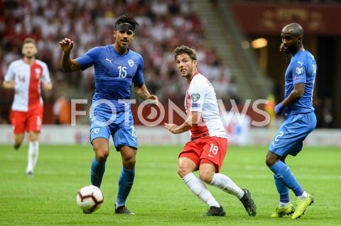 AGENCJA FOTONEWS - 10.06.2019 - WARSZAWAPILKA NOZNA - KWALIFIKACJE UEFA EURO 2020FOOTBALL UEFA EURO 2020 QUALIFIERSMECZ POLSKA (POLAND) - IZRAEL (ISRAEL)N/Z DOR PERETZ BARTOSZ BERESZYNSKIFOT MATEUSZ SLODKOWSKI / FOTONEWS