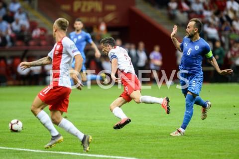 AGENCJA FOTONEWS - 10.06.2019 - WARSZAWAPILKA NOZNA - KWALIFIKACJE UEFA EURO 2020FOOTBALL UEFA EURO 2020 QUALIFIERSMECZ POLSKA (POLAND) - IZRAEL (ISRAEL)N/Z BIBRAS NATCHO ROBERT LEWANDOWSKIFOT MATEUSZ SLODKOWSKI / FOTONEWS