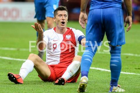 AGENCJA FOTONEWS - 10.06.2019 - WARSZAWAPILKA NOZNA - KWALIFIKACJE UEFA EURO 2020FOOTBALL UEFA EURO 2020 QUALIFIERSMECZ POLSKA (POLAND) - IZRAEL (ISRAEL)N/Z ROBERT LEWANDOWSKI EMOCJEFOT MATEUSZ SLODKOWSKI / FOTONEWS