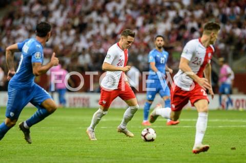 AGENCJA FOTONEWS - 10.06.2019 - WARSZAWAPILKA NOZNA - KWALIFIKACJE UEFA EURO 2020FOOTBALL UEFA EURO 2020 QUALIFIERSMECZ POLSKA (POLAND) - IZRAEL (ISRAEL)N/Z PIOTR ZIELINSKIFOT MATEUSZ SLODKOWSKI / FOTONEWS