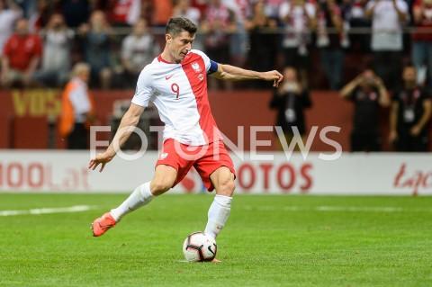 AGENCJA FOTONEWS - 10.06.2019 - WARSZAWAPILKA NOZNA - KWALIFIKACJE UEFA EURO 2020FOOTBALL UEFA EURO 2020 QUALIFIERSMECZ POLSKA (POLAND) - IZRAEL (ISRAEL)N/Z ROBERT LEWANDOWSKI RZUT KARNYFOT MATEUSZ SLODKOWSKI / FOTONEWS