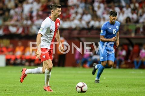 AGENCJA FOTONEWS - 10.06.2019 - WARSZAWAPILKA NOZNA - KWALIFIKACJE UEFA EURO 2020FOOTBALL UEFA EURO 2020 QUALIFIERSMECZ POLSKA (POLAND) - IZRAEL (ISRAEL)N/Z ROBERT LEWANDOWSKI SYLWETKAFOT MATEUSZ SLODKOWSKI / FOTONEWS