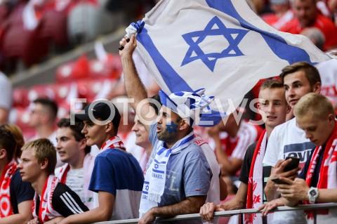 AGENCJA FOTONEWS - 10.06.2019 - WARSZAWAPILKA NOZNA - KWALIFIKACJE UEFA EURO 2020FOOTBALL UEFA EURO 2020 QUALIFIERSMECZ POLSKA (POLAND) - IZRAEL (ISRAEL)N/Z KIBIC KIBICE IZRAELFOT MATEUSZ SLODKOWSKI / FOTONEWS