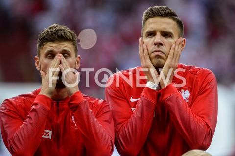 AGENCJA FOTONEWS - 10.06.2019 - WARSZAWAPILKA NOZNA - KWALIFIKACJE UEFA EURO 2020FOOTBALL UEFA EURO 2020 QUALIFIERSMECZ POLSKA (POLAND) - IZRAEL (ISRAEL)N/Z MATEUSZ KLICH JAN BEDNAREKFOT MATEUSZ SLODKOWSKI / FOTONEWS
