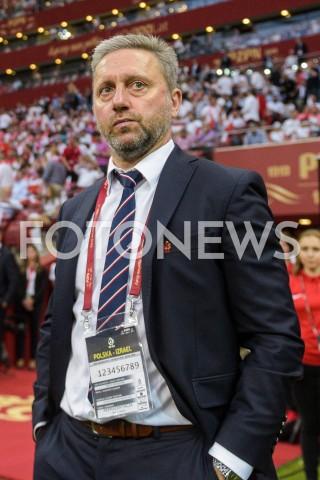 AGENCJA FOTONEWS - 10.06.2019 - WARSZAWAPILKA NOZNA - KWALIFIKACJE UEFA EURO 2020FOOTBALL UEFA EURO 2020 QUALIFIERSMECZ POLSKA (POLAND) - IZRAEL (ISRAEL)N/Z TRENER JERZY BRZECZEK SYLWETKAFOT MATEUSZ SLODKOWSKI / FOTONEWS