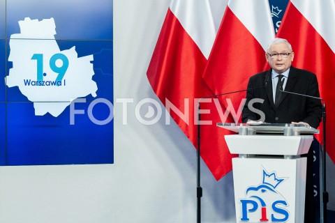 Prezentacja jedynek PiS na listach wyborczych w Warszawie