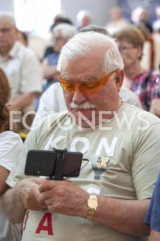 AGENCJA FOTONEWS - 20.07.2019 WARSZAWAOBYWATELSKA POMOC WYBORCZA Z UDZIALEM LECHA WALESYN/Z LECH WALESAFOT GRZEGORZ KRZYZEWSKI / FOTONEWS