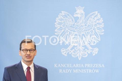 Konferencja premiera Mateusza Morawieckiego w Warszawie